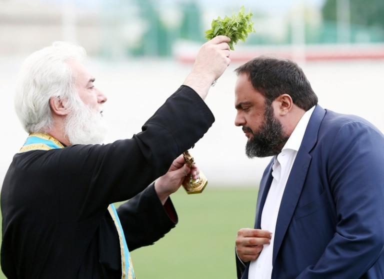 Ολυμπιακός: Με Μαρινάκη ο αγιασμός στου Ρέντη [pics] | Newsit.gr