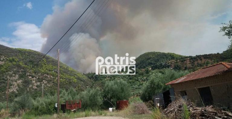 Επικίνδυνη φωτιά στα Ροδινά Ηλείας – Οι εικόνες της πυρκαγιάς και οι μαρτυρίες [pics, vids] | Newsit.gr