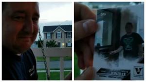 Έκλαιγε με λυγμούς όταν άνοιξε τις κάρτες μπέιζμπολ! Έκρυβαν ένα απίστευτο δώρο ζωής! [vid]