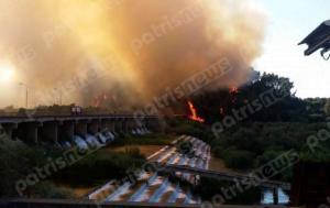 Κόλαση φωτιάς στην Ηλεία κοντά στην Αρχαία Ολυμπία