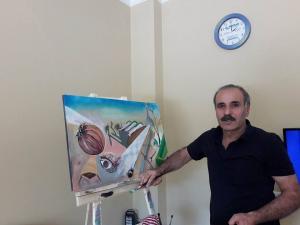 Θεσσαλονίκη: Με «εισιτήριο» τους πίνακες ζωγραφικής του Σύρος πρόσφυγας προσπαθεί να πάει στην Ισπανία