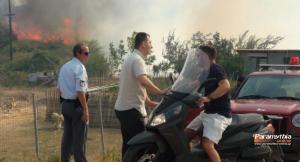 Φωτιά τώρα στην Αγορά Θεσπρωτίας – Οι φλόγες πλησιάζουν απειλητικά τα πρώτα σπίτια [vid]