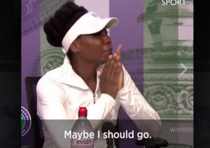 Συντετριμμένη η Venus Williams! Έφυγε κλαίγοντας από τη συνέντευξη [vid]