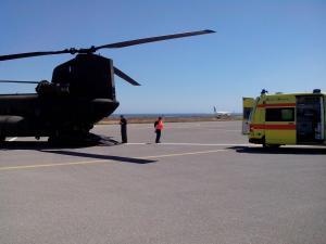 15 ασθενείς μεταφέρθηκαν το 3μερο με πτητικά μέσα της Πολεμικής Αεροπορίας