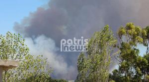 Φωτιές στον Πύργο: Σε εξέλιξη η πυρκαγιά στην Αμαλιάδα