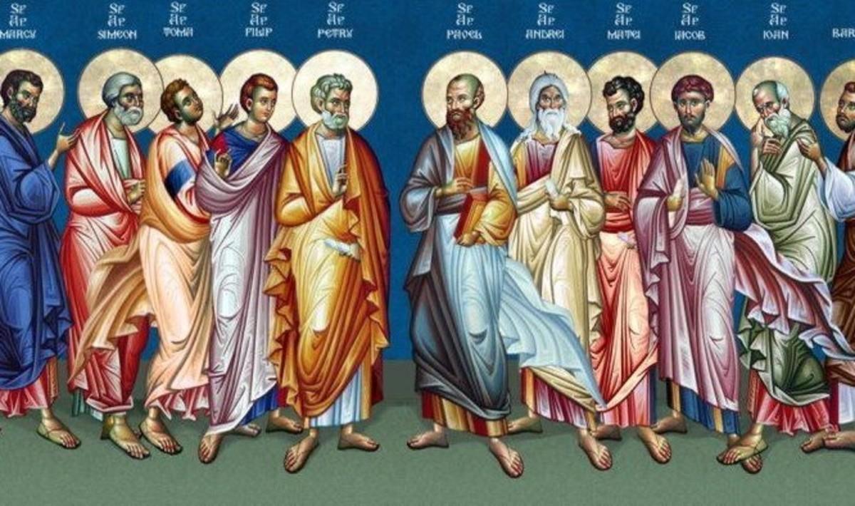 Αποτέλεσμα εικόνας για δωδεκα αποστολοι