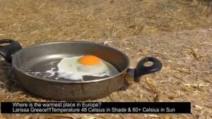 """Αυγά ψητά στον… ήλιο! """"Συνταγές"""" καύσωνα σε Λάρισα και Χανιά [vids]"""