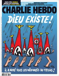Charlie Hebdo: Πέρα από κάθε όριο! «Ο Θεός έπνιξε όλους τους ναζί του Τέξας»