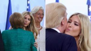 Ο Τραμπ υπερασπίστηκε την Ιβάνκα «χρησιμοποιώντας» την Μέρκελ