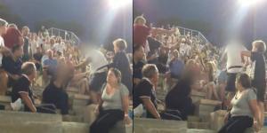 Καλλιμάρμαρο – Βίντεο σοκ! Χτυπάει την γυναίκα του μπροστά σε όλους – Εκεί ήταν και τα παιδιά τους