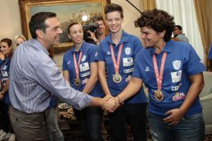 Ολυμπιακοί Αγώνες Κωφών: Ο Τσίπρας υπόδεχθηκε τους κατόχους μεταλλίων [pics]