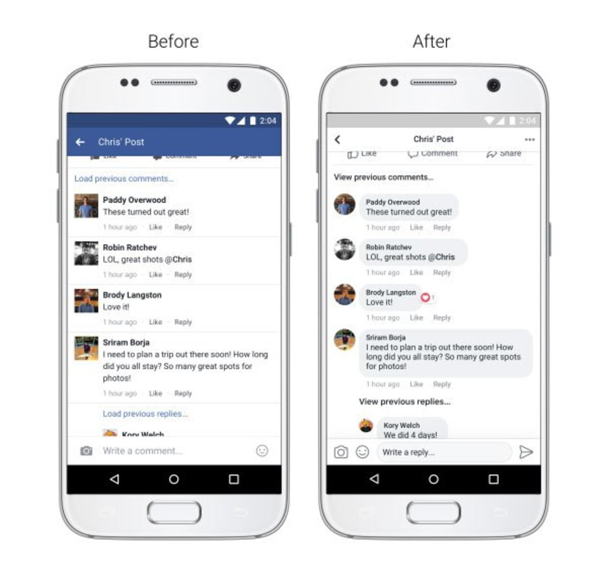 facebook comments redesign
