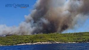 Ανεξέλεγκτη και επικίνδυνη η φωτιά στις Σπέτσες [pics, vid]