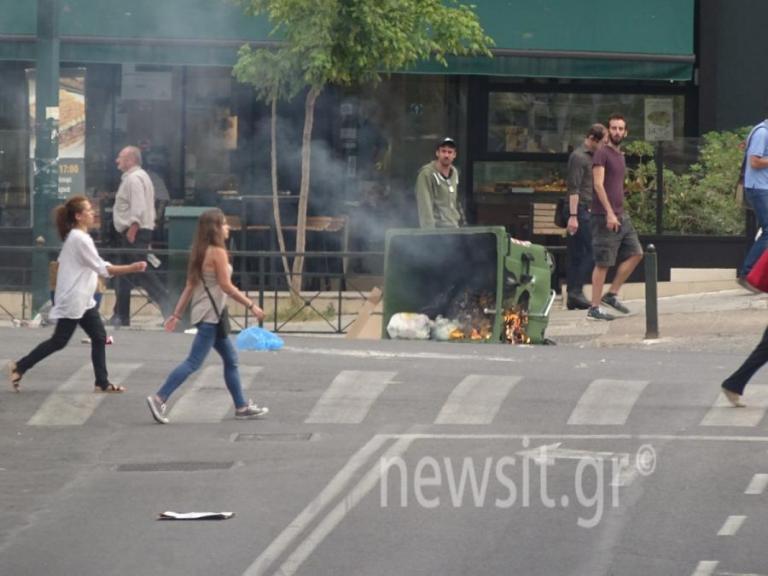 Ηριάννα: Οργή για την φυλάκιση της! Φωνές, φωτιές και πέτρες [pics] | Newsit.gr