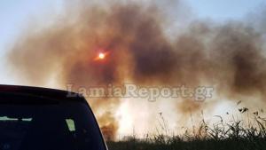 Φωτιά έξω από τα Καμένα Βούρλα [pics]