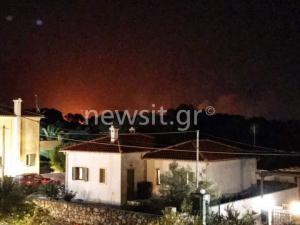 Φωτιά σε δύο περιοχές της Κεφαλονιάς [pics]