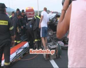 Τροχαίο στην εθνική οδό Αθηνών – Κορίνθου – Μία νεκρή, τρεις τραυματίες