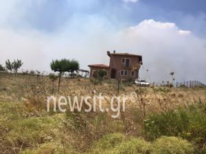 Φωτιές στην Αττική: Παραλίγο να καεί το σπίτι του Κουφοντίνα [pics]
