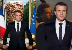 Μακρόν: Τι το 'θελε; Ανελέητο γλέντι για το προεδρικό πορτρέτο! [pics]