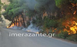 Φωτιά στη Ζάκυνθο: Μαρτυρικές ώρες για το νησί – Τρεις προσαγωγές