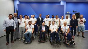 Ο Κυριάκος Μητσοτάκης δέχθηκε τους Παγκόσμιους Πρωταθλητές στίβου ΑΜΕΑ