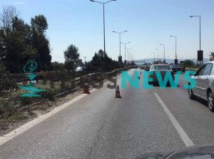 Καραμπόλα στην εθνική οδό Θεσσαλονίκης – Μουδανιών