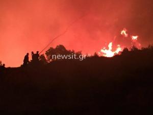 Φωτιές στην Αττική: Μεγάλες αναζωπυρώσεις σε Κάλαμο και Μετόχι! Διακοπή ρεύματος