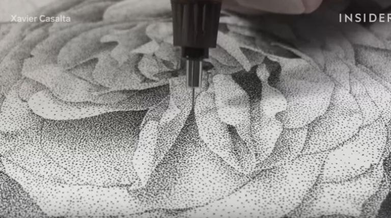 Ζωγραφίζει εκατομμύρια τελείες. Το αποτέλεσμα είναι εκπληκτικό [vid] | Newsit.gr