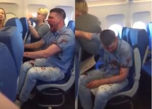Επιβάτης πτήσης καλυμμένος με αίμα ούρλιαζε και ξεσπούσε [vid]