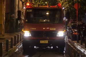 Φωτιά στο κέντρο της Αθήνας – Πολύ κοντά στην Ομόνοια