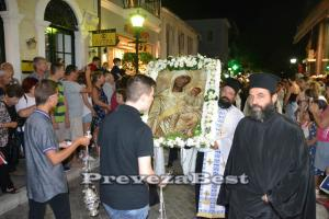 Δεκαπενταύγουστος – Πρέβεζα: Πλήθος πιστών στον πανηγυρικό εσπερινό της Παναγίας