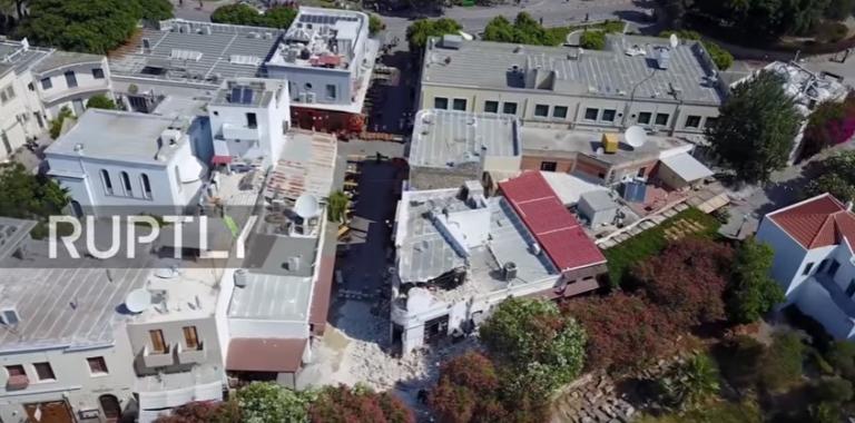 Σεισμός – Κως: Απίστευτες εικόνες! Drone καταγράφει τις ζημιές από τον φονικό σεισμό   Newsit.gr