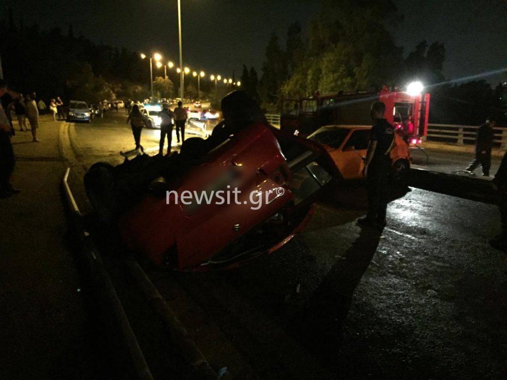 troxaio30 1024x768 - Σοβαρό τροχαίο στην Λεωφόρο Κατεχάκη! Τούμπαραν δύο αυτοκίνητα – Σε κρίσιμη κατάσταση οι οδηγοί