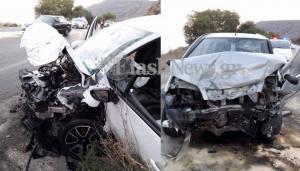 Κρήτη: Σοκαριστικό τροχαίο – Εγκλωβίστηκαν στα συντρίμμια των αυτοκινήτων τους [pics]