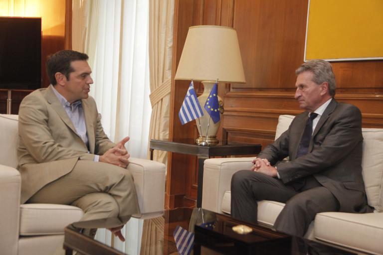 Τσίπρας σε Έτιγκερ: Θέλουμε ισχυρό προϋπολογισμό για να στηρίξει την ανάπτυξη [pics] | Newsit.gr
