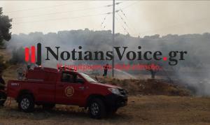 Φωτιά κοντά σε σπίτια στην Βάρη [pics, vid]