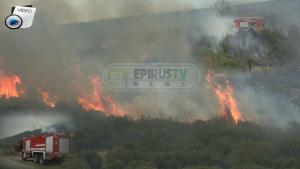 Ιωάννινα: Κινδύνεψε αξιωματικός της Πυροσβεστικής στη φωτιά της Βροντισμένης!