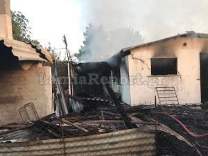 Φθιώτιδα: Έβαλαν φωτιά στο σπίτι δολοφόνου που αποφυλακίστηκε με το νόμο Παρασκευόπουλου [pics]