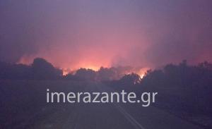 Φωτιά στη Ζάκυνθο: Νύχτα κόλαση! Κάηκε σπίτι στο χωριό Μαριές – Απομακρύνθηκαν οι κάτοικοι