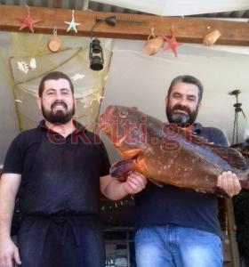 Κρήτη: Η αναμονή του ψαροντουφεκά άξιζε τον κόπο – Ο ροφός ζύγιζε πάνω από 10 κιλά [pics]