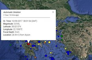 Σεισμός ταρακούνησε το Αίγιο