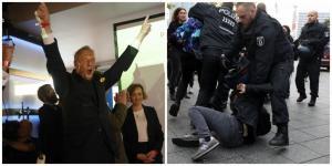 Γερμανικές εκλογές: Πανηγυρίζουν στο AfD! Επεισόδια με οργισμένους διαδηλωτές [pics]