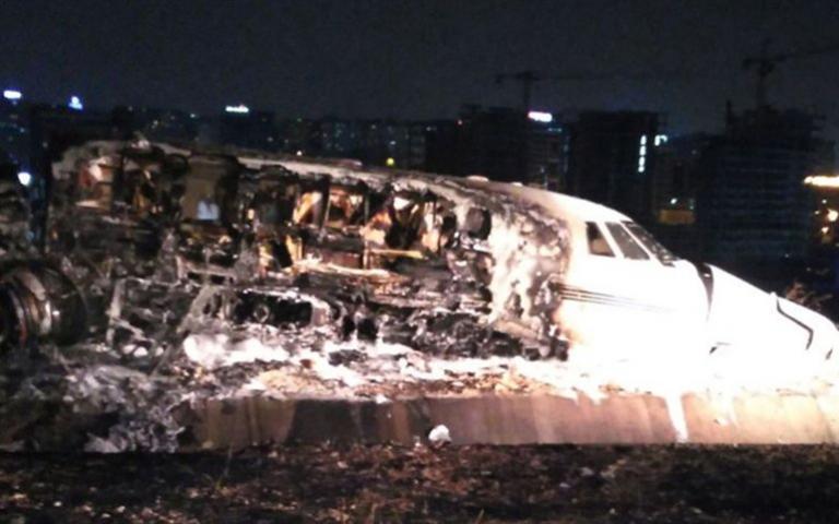 Τουρκία: Ιδιωτικό αεροσκάφος συνετρίβη στο αεροδρόμιο Ατατούρκ | Newsit.gr