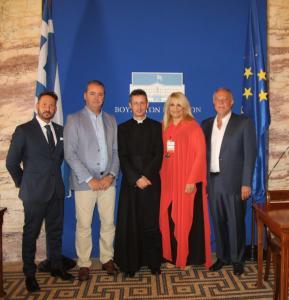 Η Προεδρία των Βραβείων Sciacca στη Βουλή και στο Υπουργείο Εξωτερικών