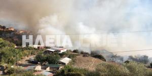 Σε πύρινο εφιάλτη ξανά η Ηλεία! «Έπιασαν» τη φωτιά στη Μάκιστο!