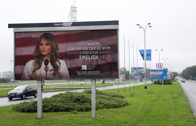 Φροντιστήρια ξένων γλωσσών απέσυραν διαφήμιση με τη Μελάνια Τραμπ! | Newsit.gr
