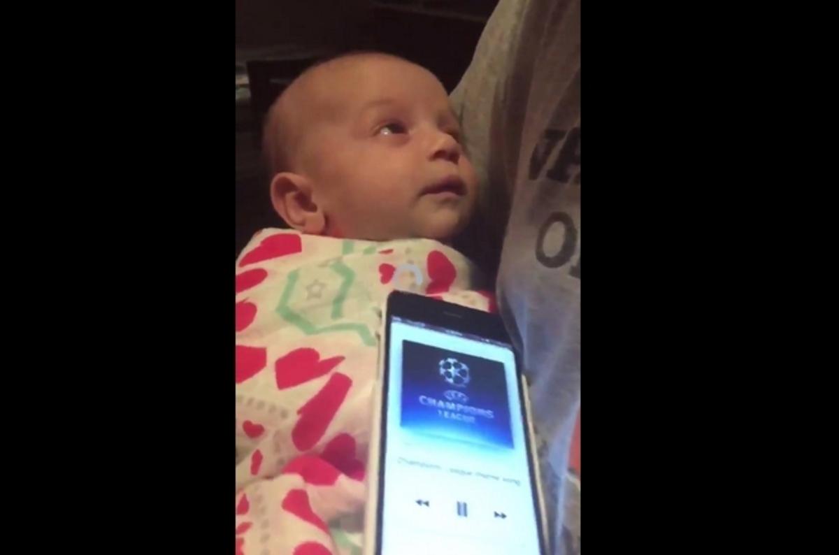 Ο ύμνος του Champions League σταμάτησε το κλάμα του μωρού! [vid]   Newsit.gr