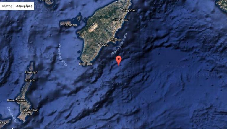 Ισχυρός σεισμός κοντά στη Ρόδο   Newsit.gr