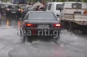 Χανιά: Βροχές και πλημμύρες – Οι εικόνες της κακοκαιρίας μετά τις καταιγίδες διαρκείας [vid]