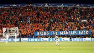 ΑΠΟΕΛ: Υπέρ του πανό για τα μάρμαρα ο παρατηρητής της UEFA!